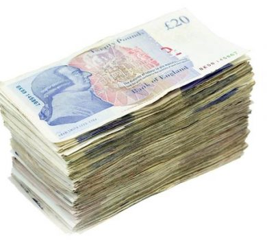 Pile-of-Twenty-Pound-Notes